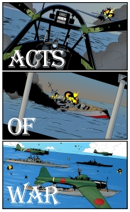 Pictures from the novel _Acts of War_.